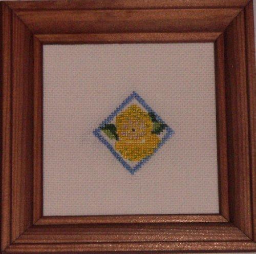Vyšívaný obrázek - citrony