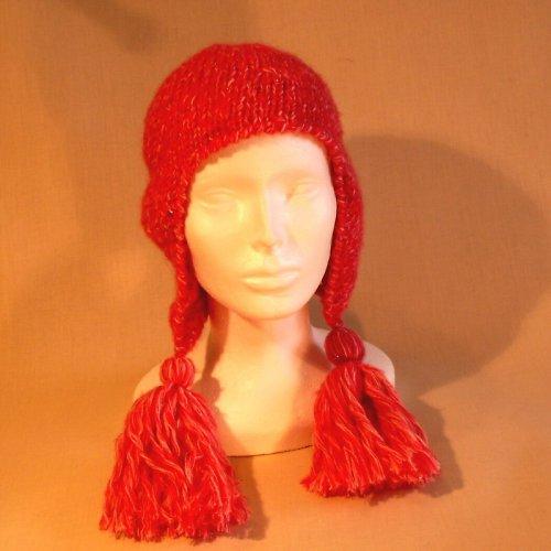 čepice pletená - růžová  se střepci