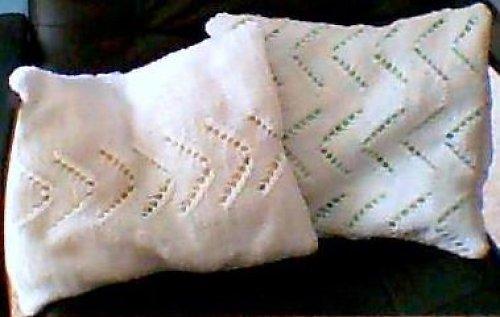 pletené povlaky na polštářky
