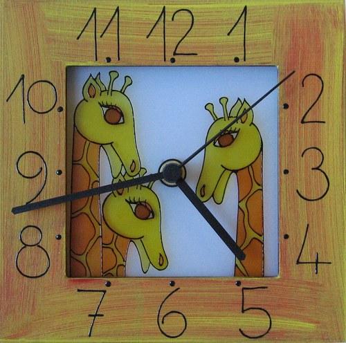 Žirafy - hodiny v rámu 17cm