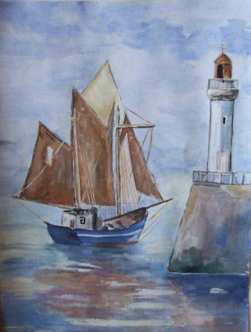 Akvarelové lodičky