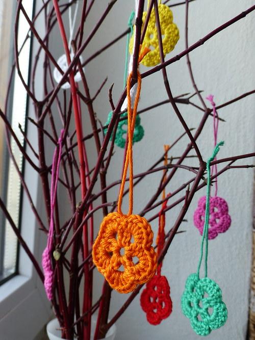 Barevné velikonoční kytičky - výprodej