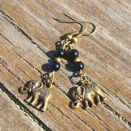 náušnice sloni