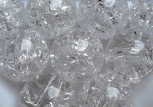 Plast. kraklovaná kulička 12 mm - transp. / 2 ks