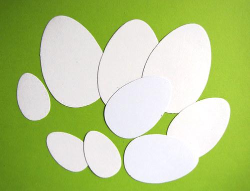 Bílá vajíčka - 9 ks
