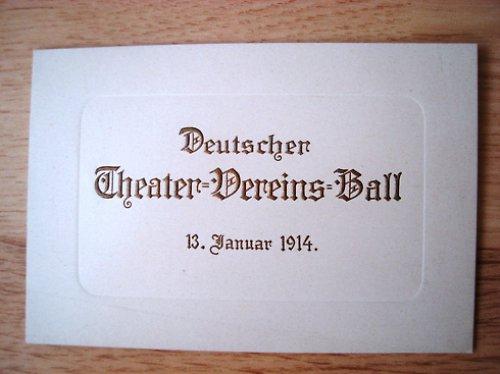 Německý divadelní spolkový bál