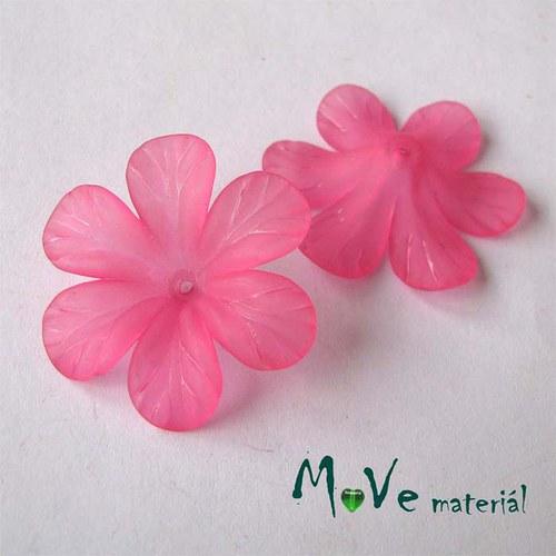 Akrylový květ 30mm, 2ks, růžový