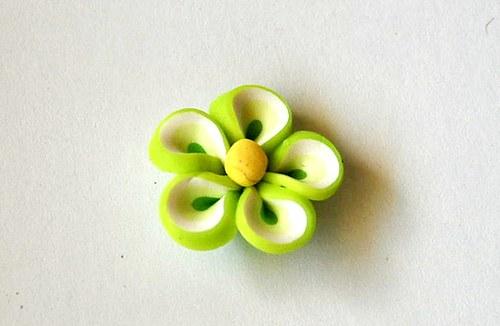 Fimo květ 9x20mm