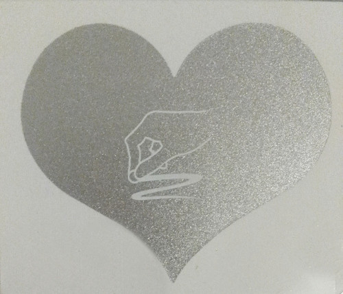 Stírací nálepky ve tvaru srdce  0122