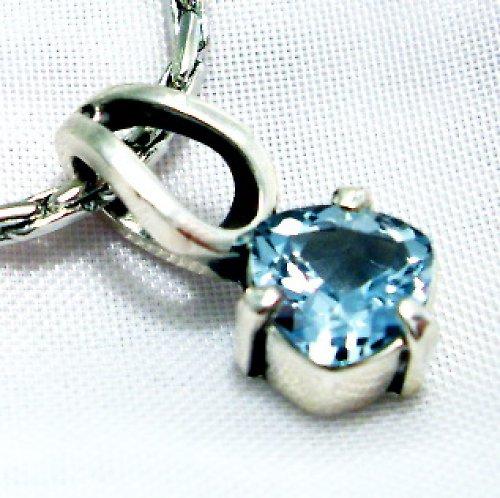 Přívěsek «Něha» - stříbro 925, modrý topaz