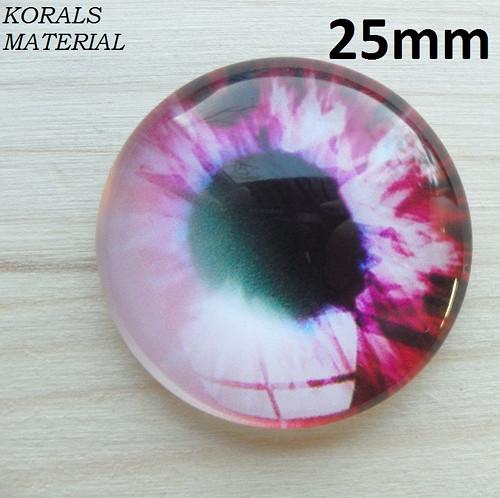 2937/F Kabošon Oko růžové 25 mm