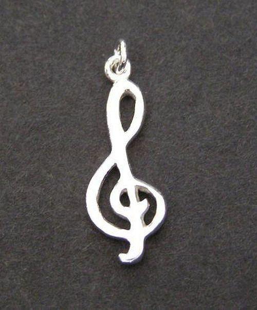 Houslový klíč - stříbrný přívěsek