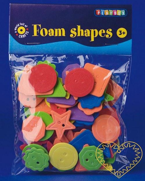 Knoflíky - výseky z pěnové / mechové gumy - 100 ks