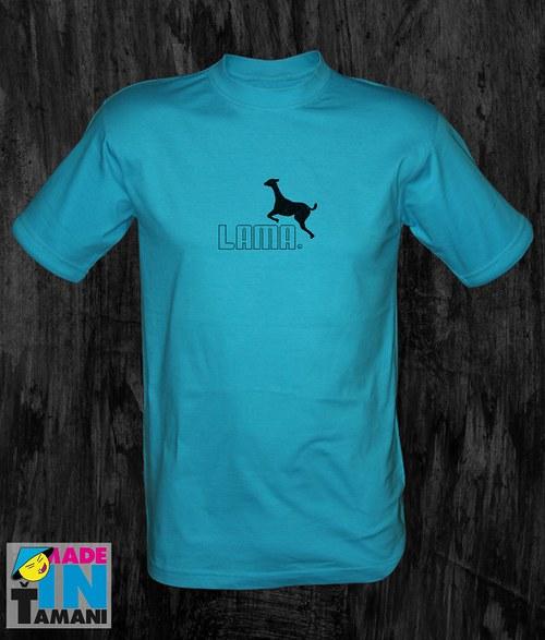 Pánské tyrkysové tričko s Lamou 05
