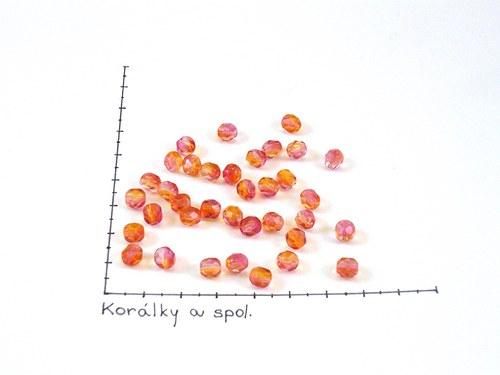 Ohňovky oranžovo-růžové 6 mm, 36ks