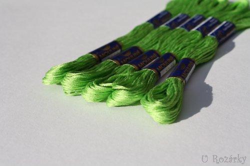 Vyšívací příze Mouline - zelená hrušková