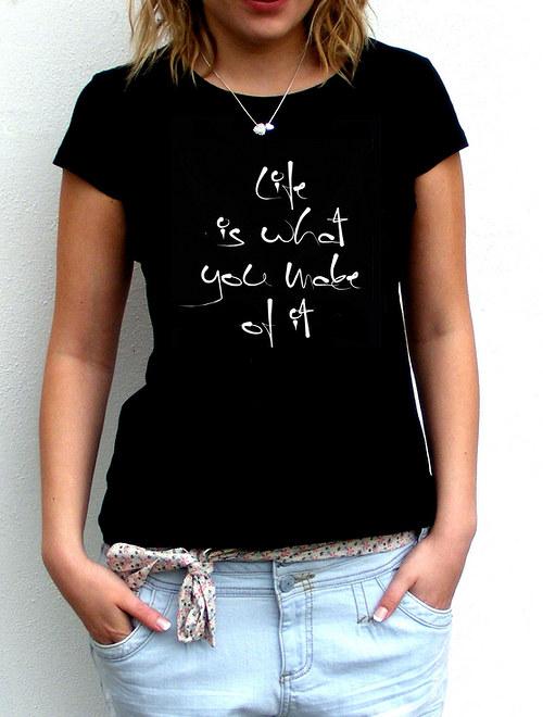 "Dámské tričko ,,Life\"""