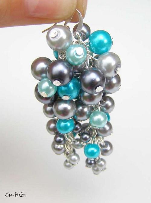 Sivo-tyrkysové perličky