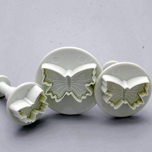 Sada vykrajovátek s texturou / Motýlek