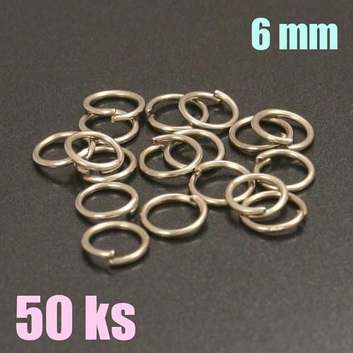 Platinové kroužky 6 mm (50 ks)