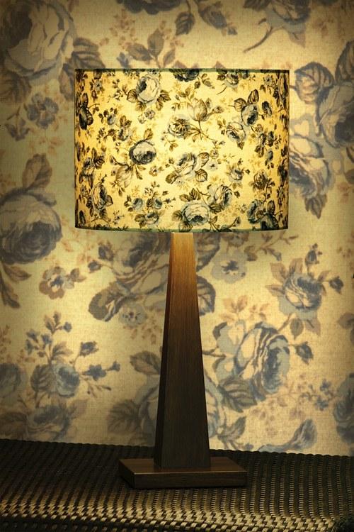 Stínítko na lampu Modrá růže - stolní/stropní