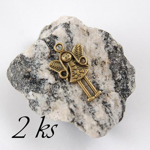 Malá víla bronzové barvy - 2ks