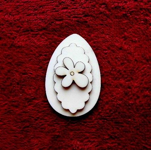 3D zápich na špejli vejce+kytička -3ks