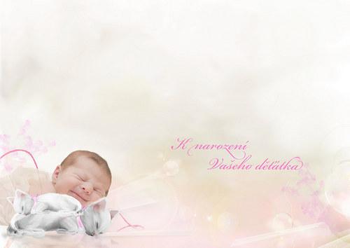 k narození děťátka - doplněné Vaší fotkou a textem