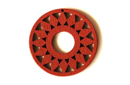 dřevěná kolečka- hnědá