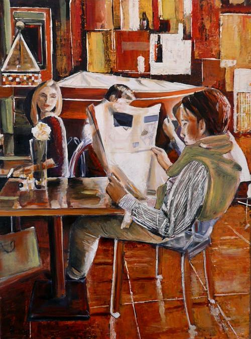 Siesta v kavárně