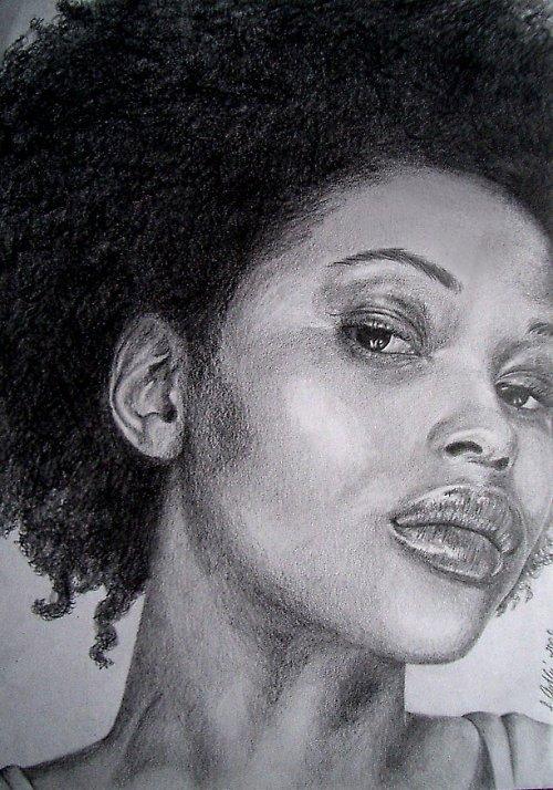 Portrét černošky
