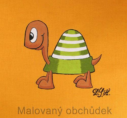 Malovaný pytlík bačkůrkovník s želvou