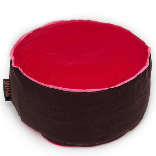 Meditační polštářek - hnědočervený