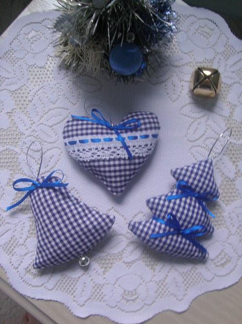 Vánoční ozdoby-modrobílá kostka č.2