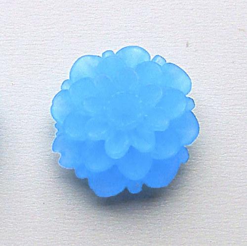 květinka / zamrzlá/ 20mm/ modrá č.2/ 2ks