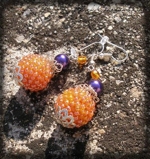 Pomeranče - náušnice