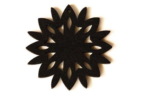 dřevěná sluníčka- černá