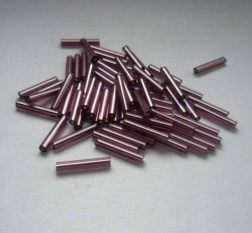 Trubičky fialové 15mm, 10g