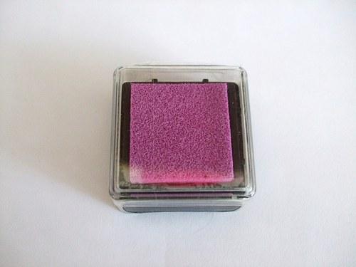 Razítkovací polštářek - růžovo-fialková