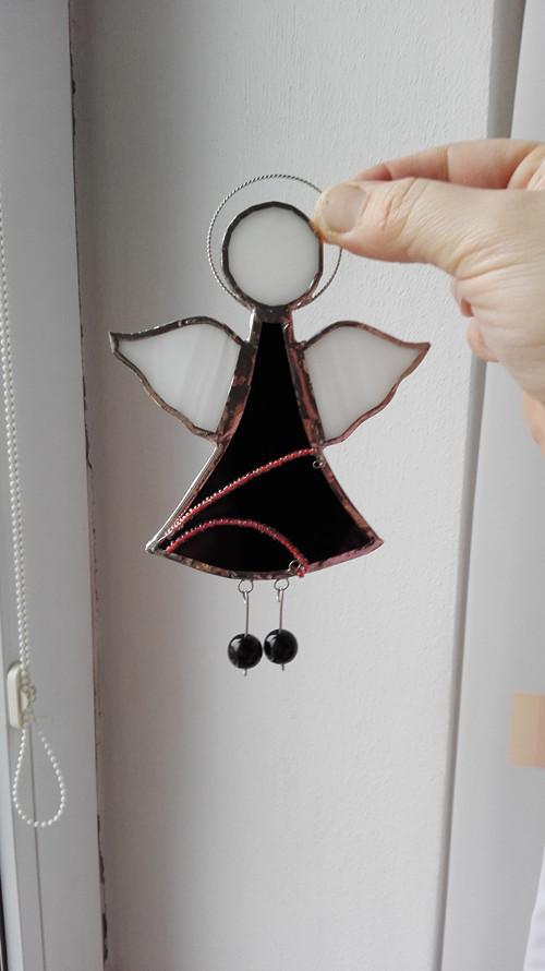 Andílek černý 15,5 cm
