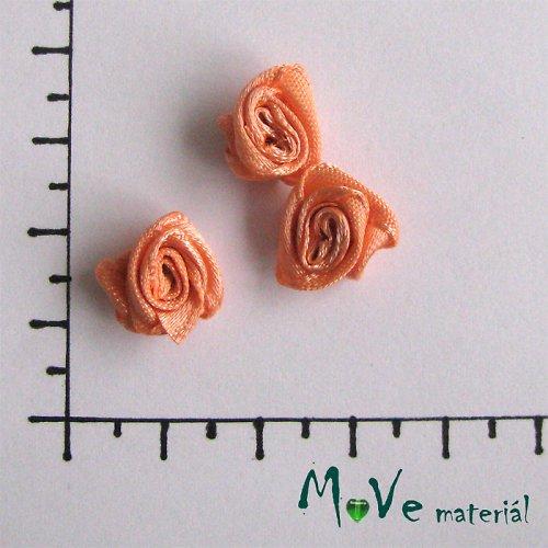 Růžička saténová meruňková Ø12mm, 3kusy