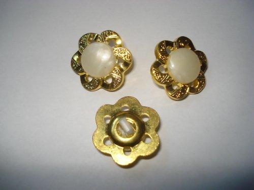 Knoflík zlatobílý 5ks