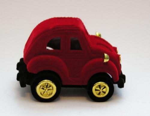 Sametová krabička na šperky - auto červené