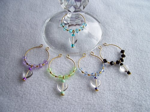 Glass Charm - sada se skleněným srdíčkem /2/