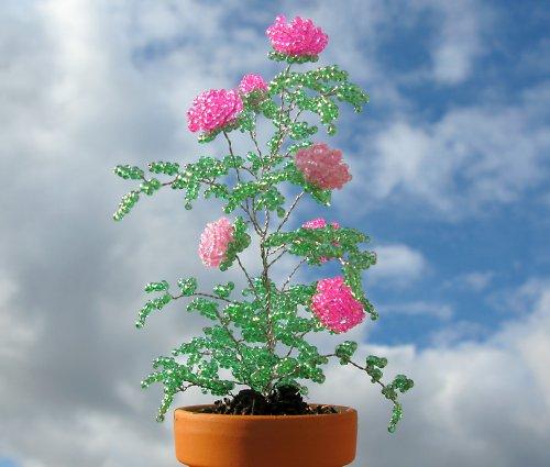 Korálkové růže v odstínech růžové II