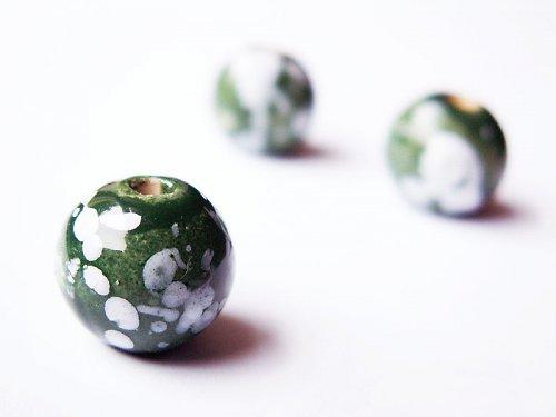 Kulička tmavě zelená - větší ((KOM70))