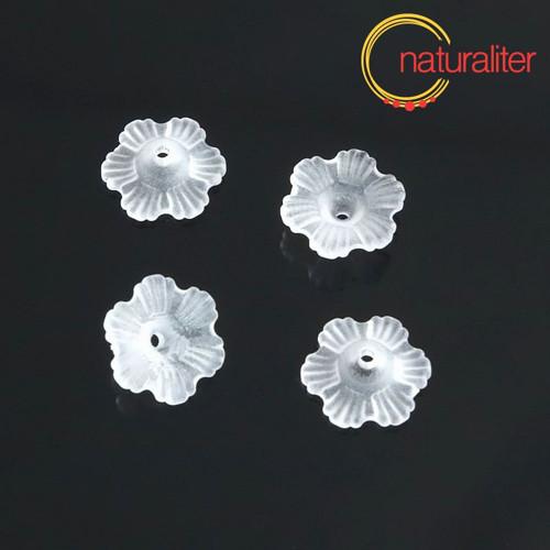Květina akrylová 11mm bílá, 10ks