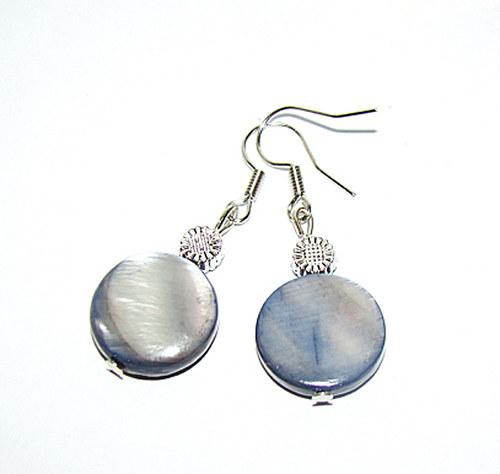 náušnice  placičky z perleti