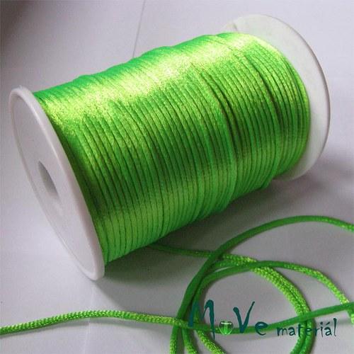 Šňůra Ø2mm reflex. zelená,1m