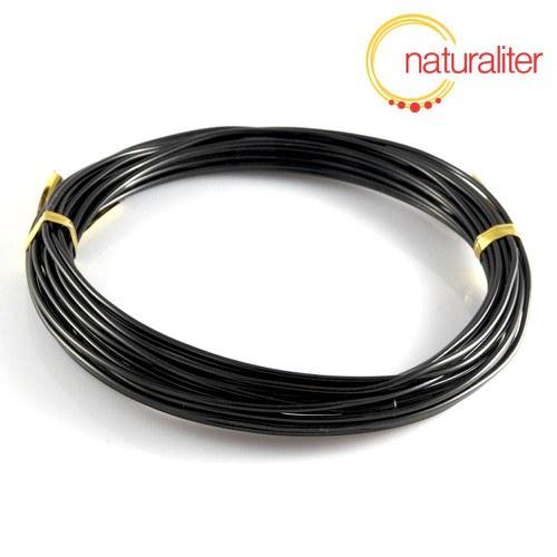 Hliníkový drát černý, 1,5mm x 6m